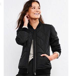 NWT Garnet Hill Black Puffer Coach's Jacket - S